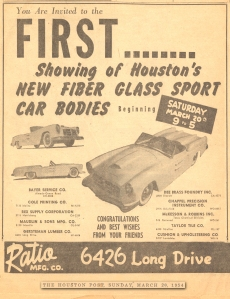 Houston Post AD March 28 1954